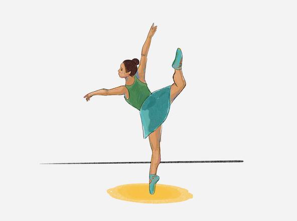 Verbalbranding ballerina