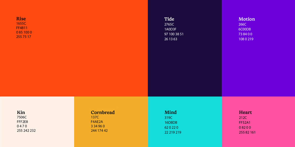 The color palette for 15Five