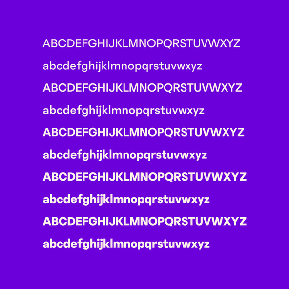 A sample of the Phantom Sans typeface