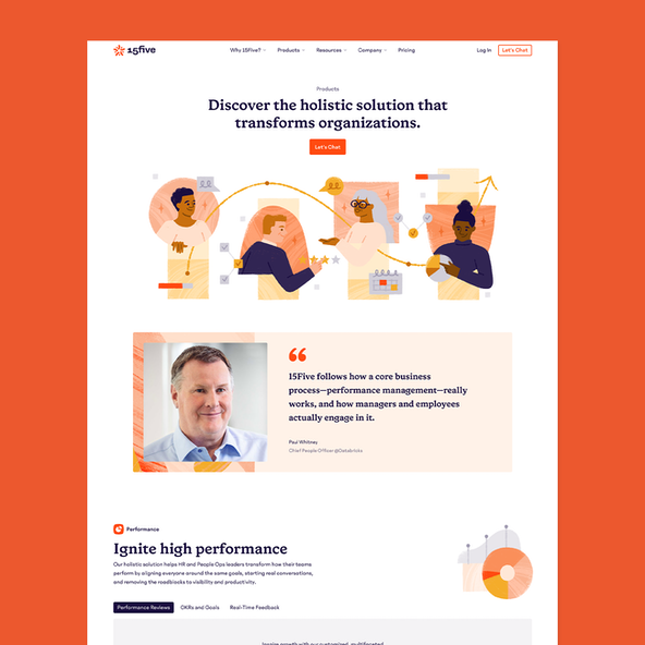 the 15Five Product page