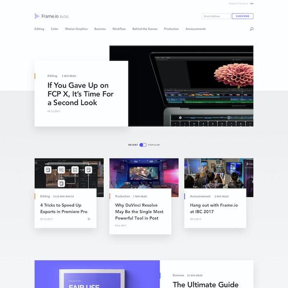 Blog Home