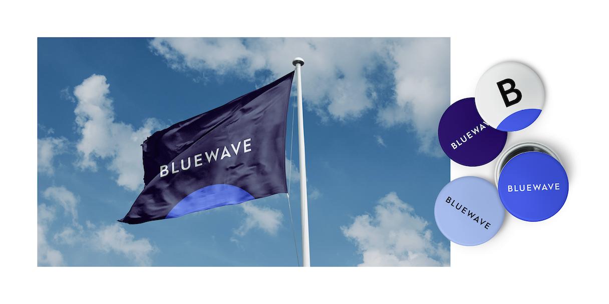 Blue Wave flagbutton