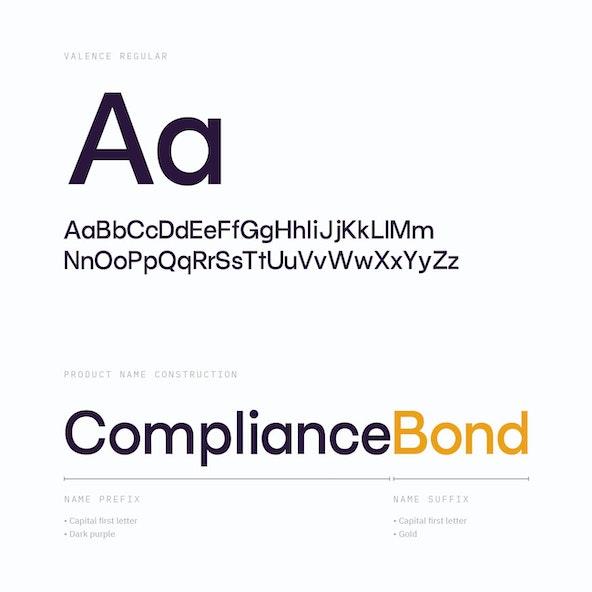 Galvanize valence typeface rules 2x