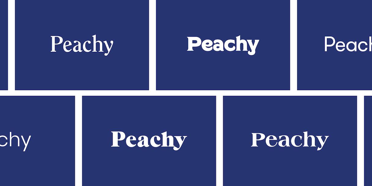 Peachy logotypeexplo navy2