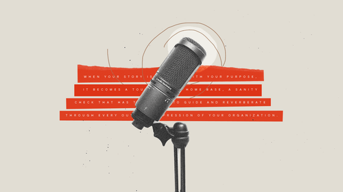 A microphone in front of an excerpt from the post.