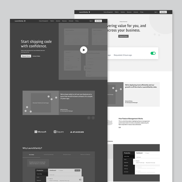 A high fidelity wireframe created in Figma
