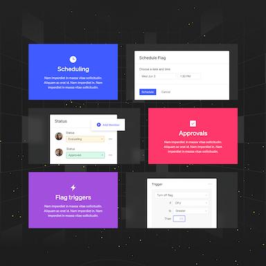 Six colorful UI modules