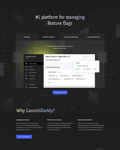 The LaunchDarkly Features Page
