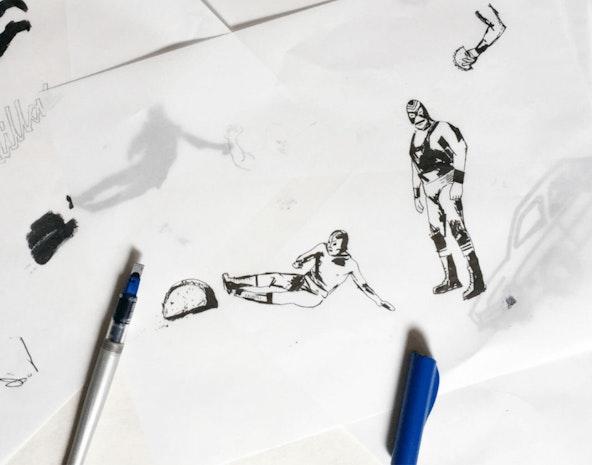 Sketch lunchador2