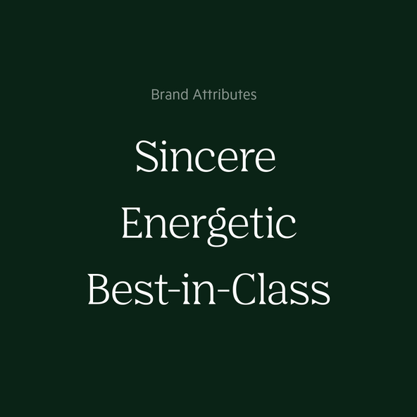 Salesloft's Brand Attributes are sincere, energetic, and best-in-class