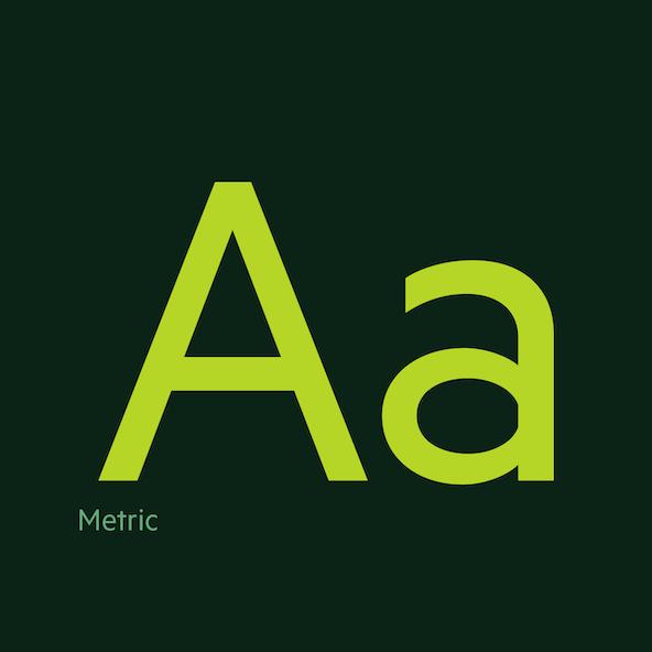 Metric Typeface