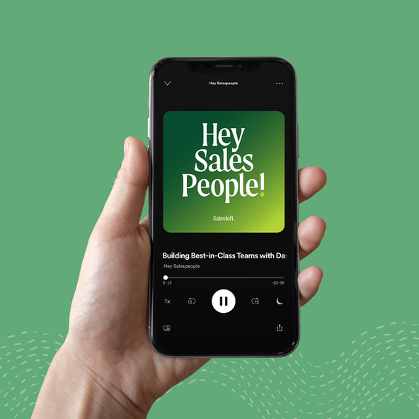 Branding for Salesloft's podcast, Hey Sales People!