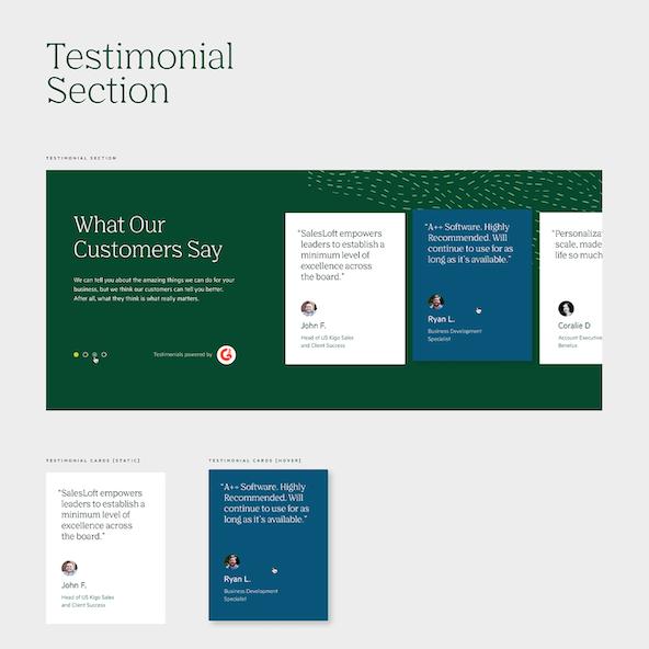 Sample interactive testimonials