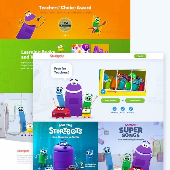 Storybots homepage