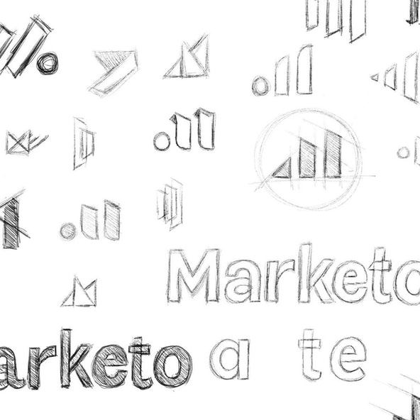 Various sketches for Marketo logos.