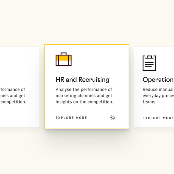 A hover state for the website, showcasing the difference between an inactive and active icon.